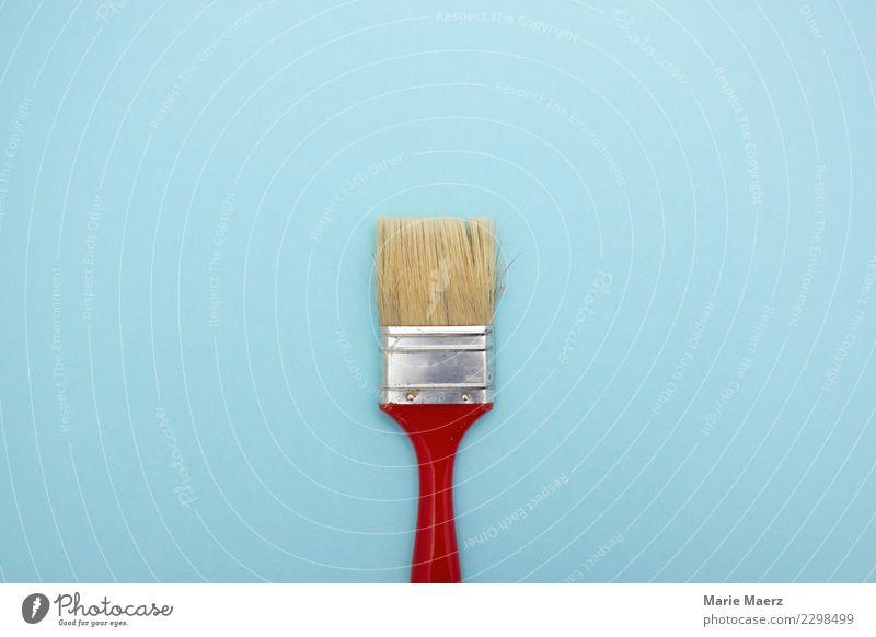 Großer Maler-Pinsel Anstreicher Handwerk Arbeit & Erwerbstätigkeit machen leuchten authentisch frisch hell natürlich neu Vorfreude Tatkraft planen