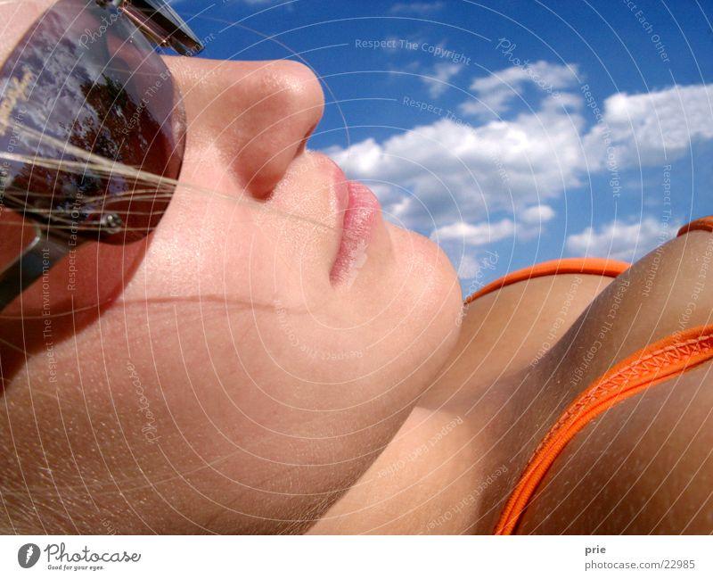 Veronika & der Himmel #2 Frau Himmel Sonne Sommer Gesicht Bikini