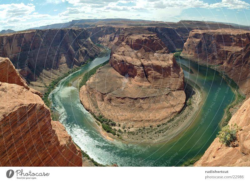 Horse Shoe Bend Landschaft USA Schlucht Montage Page Arizona Colorado