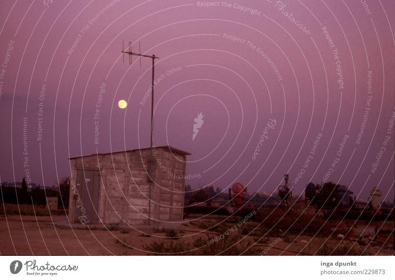 Baustellenbeleuchtung Sommer Landschaft Umwelt Gebäude Beton Industriefotografie Fabrik Hütte Verfall Wolkenloser Himmel Mond Maschine Zerstörung stagnierend