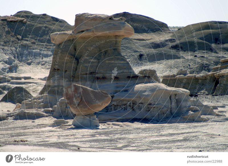 ... noch ein Schuh Stein Schuhe Felsen USA Wüste Mineralien Gesteinsformationen Farmington New Mexiko Bisti Badlands