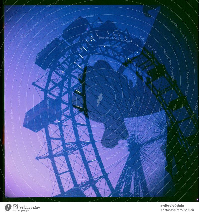 Das Ungeheuer von Loch Mess' alt blau schön Freude Erholung Bewegung groß Stahl drehen Lebensfreude Rahmen hängen Doppelbelichtung Nostalgie Drache
