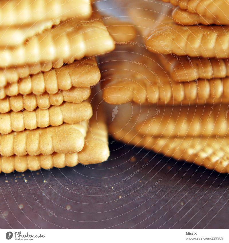 Buddakex Ernährung Lebensmittel süß Süßwaren lecker Stapel Backwaren eckig Keks Krümel Nahaufnahme Tiefenschärfe Foodfotografie Butterkeks