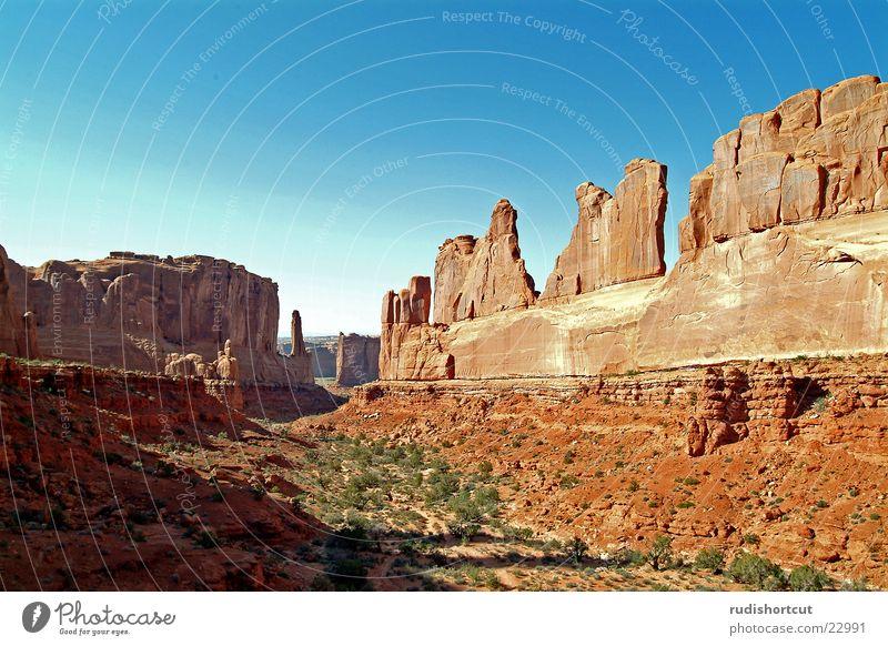 Park Avenue Utah Arches National Park Weitwinkel Berge u. Gebirge Felsen Landschaft Ferien & Urlaub & Reisen USA