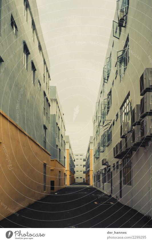 Häuserschlucht Stadt Haus Einsamkeit Fenster Architektur Wand Gebäude Mauer Häusliches Leben modern Bauwerk Asien Umzug (Wohnungswechsel) Gitter Stadtrand