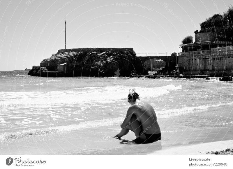 Stine Ferien & Urlaub & Reisen Sommer Sommerurlaub Sonne Strand Meer Insel feminin Frau Erwachsene 1 Mensch 18-30 Jahre Jugendliche Denken Erholung Freude Glück