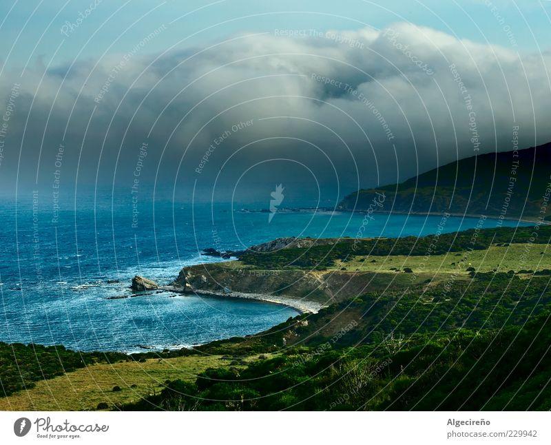 Strasse von Gibraltar Natur Strand Wolken Einsamkeit Ferne Wiese Freiheit Küste Kraft Hintergrundbild ästhetisch Europa Sträucher Bucht Unwetter Inspiration