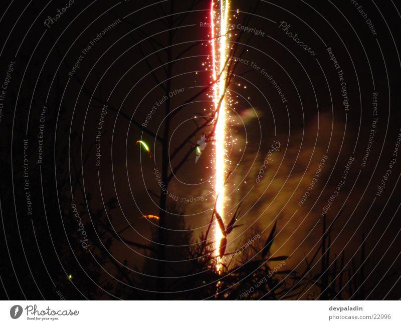 Feuerwerksfontäne Silvester u. Neujahr Langzeitbelichtung Nacht Licht Feste & Feiern Reaktionen u. Effekte