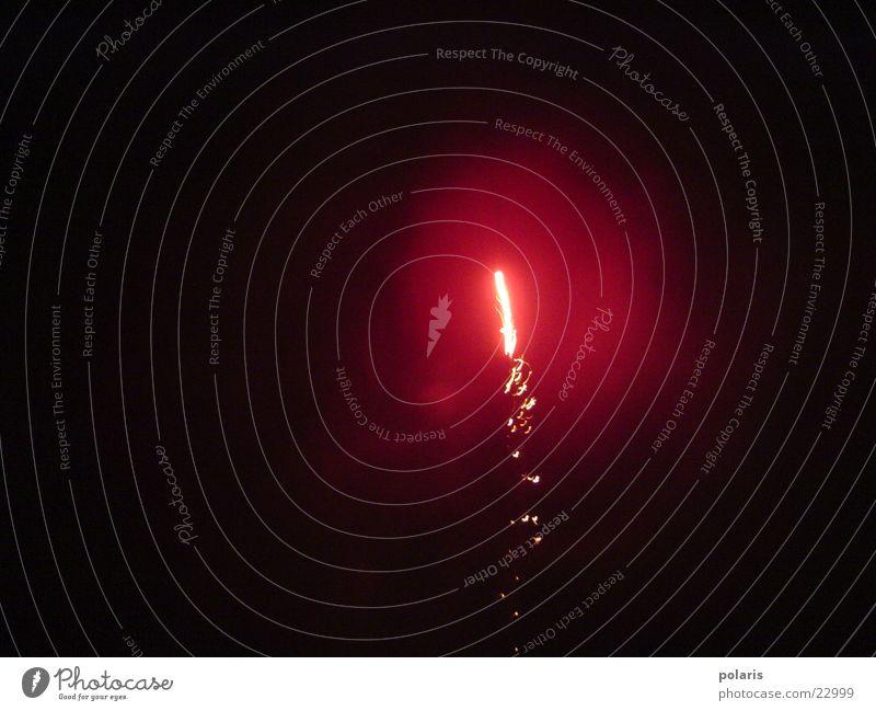 rakete rot Silvester u. Neujahr Fototechnik Feuerwerk