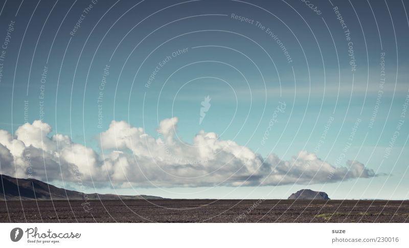 Luftschiff Berge u. Gebirge Umwelt Natur Landschaft Erde Himmel Wolken Klima Wetter Schönes Wetter Feld außergewöhnlich groß blau Island Farbfoto