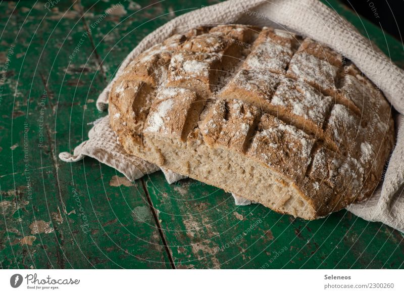 frisches Brot Lebensmittel Teigwaren Backwaren Ernährung Frühstück Mittagessen Abendessen Bioprodukte Vegetarische Ernährung Gesundheit lecker backen Farbfoto