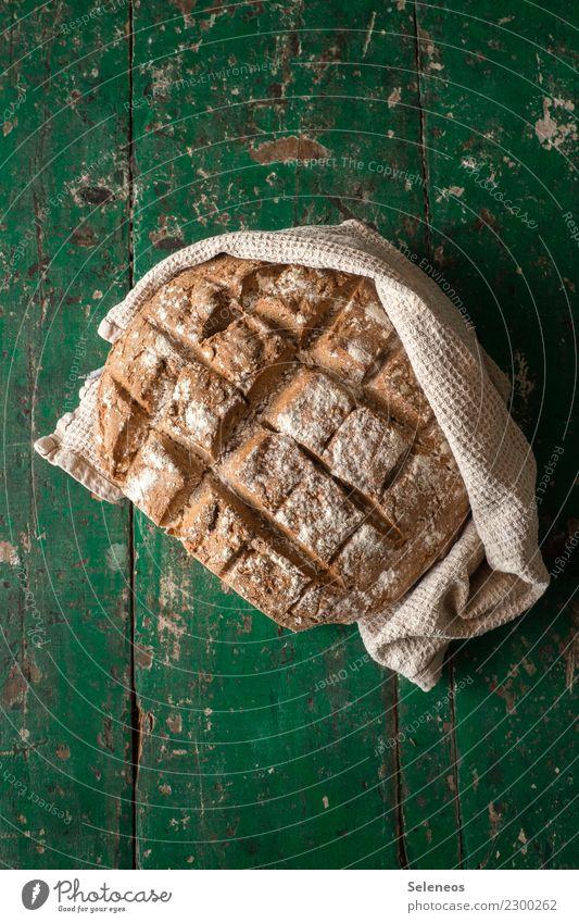 jemand eine Scheibe frisch gebackenes Brot? Lebensmittel Getreide Teigwaren Backwaren Ernährung Essen Frühstück Abendessen lecker Farbfoto Innenaufnahme