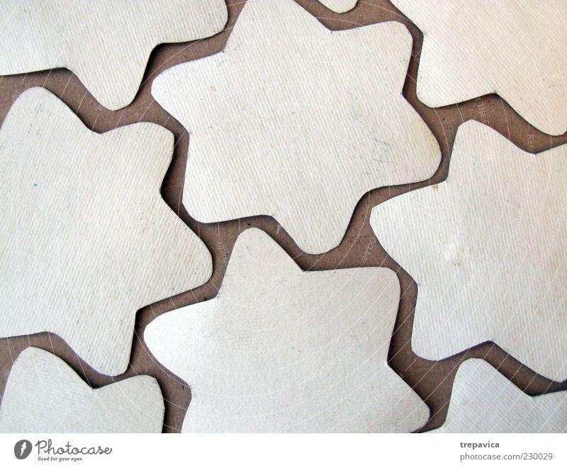 sterne weiß Freude braun Stern Design Papier Stern (Symbol) Dekoration & Verzierung Zeichen machen Kreativität Zettel Sammlung Basteln Ornament