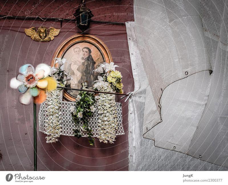 Blick zurück Stadt ruhig Religion & Glaube Leben Wand Mauer Fassade träumen retro authentisch Vergänglichkeit Italien einfach Vergangenheit Hoffnung Schutz