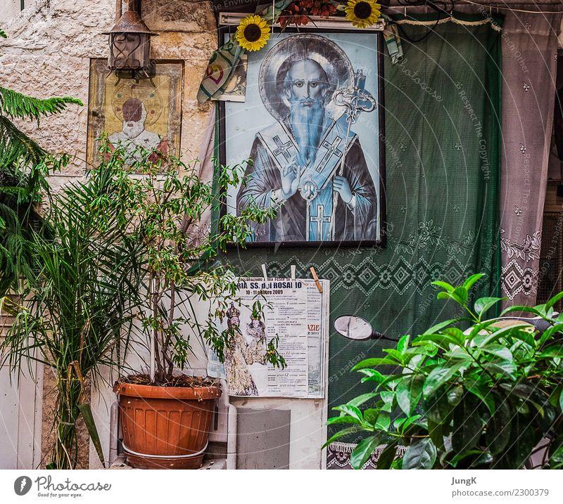 Blick zurück 2 Städtereise Alltagskultur Süditalien Italien Altstadt Haus Mauer Wand Fassade Fenster authentisch einfach retro Hoffnung Glaube Sehnsucht