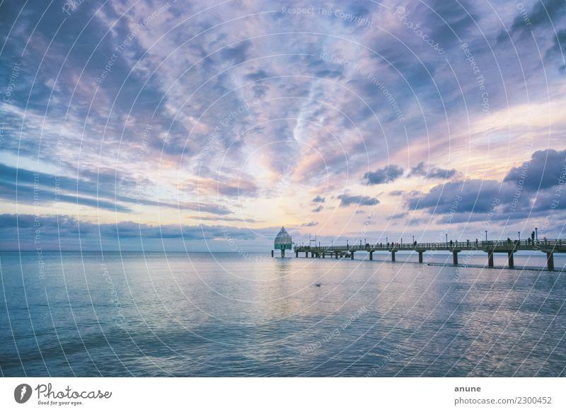Tauchgondel Zingst Himmel Natur Ferien & Urlaub & Reisen blau grün Wasser Landschaft Meer Erholung Wolken gelb Umwelt Tourismus rosa Ausflug Zufriedenheit