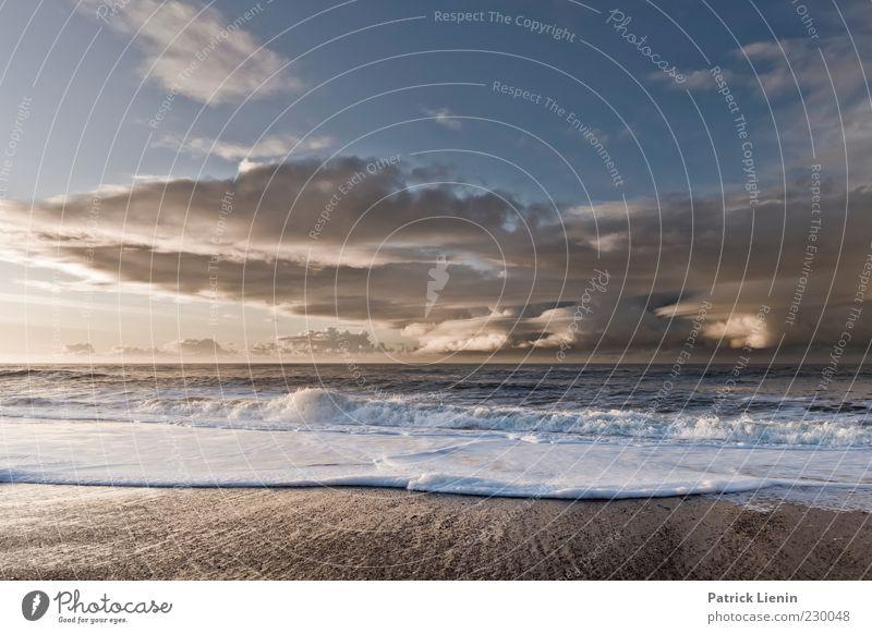 Let us be Umwelt Natur Urelemente Luft Wasser Himmel Wolken Gewitterwolken Sonnenlicht Klima Klimawandel Wetter Schönes Wetter Wind Sturm Wellen Küste Strand