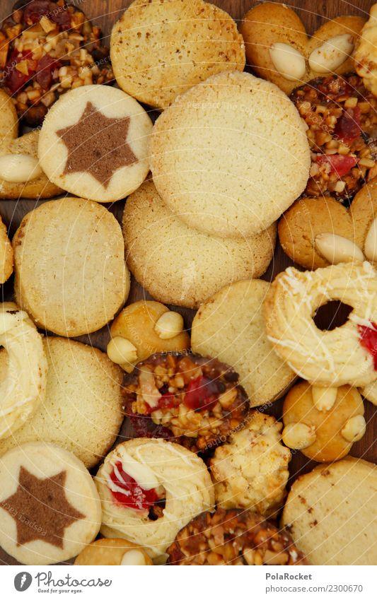 #A# Kekse Kunst ästhetisch Süßwaren süß viele lecker ungesund Kalorienreich Stern (Symbol) Backwaren Weihnachten & Advent Farbfoto Gedeckte Farben Innenaufnahme