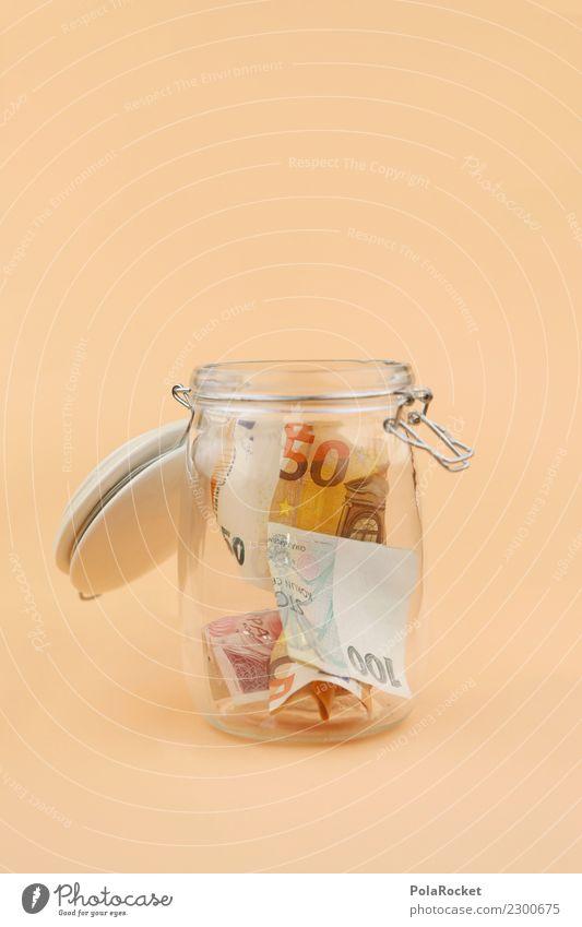 #A# MoneyGlas Kunst ästhetisch Geld Geldinstitut Geldscheine sparen Euro Kapitalwirtschaft Eurozeichen 50 Geldmünzen Kapitalismus Einmachglas Geldgeschenk