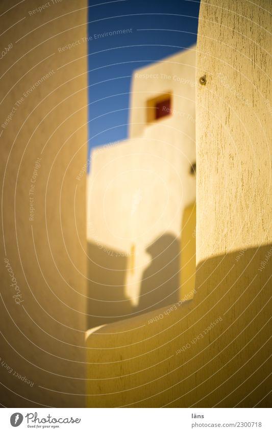 Häuser Stadt Haus Fenster Architektur Wand Gebäude Mauer Häusliches Leben Wohnung einfach Bauwerk Griechenland Erwartung Santorin