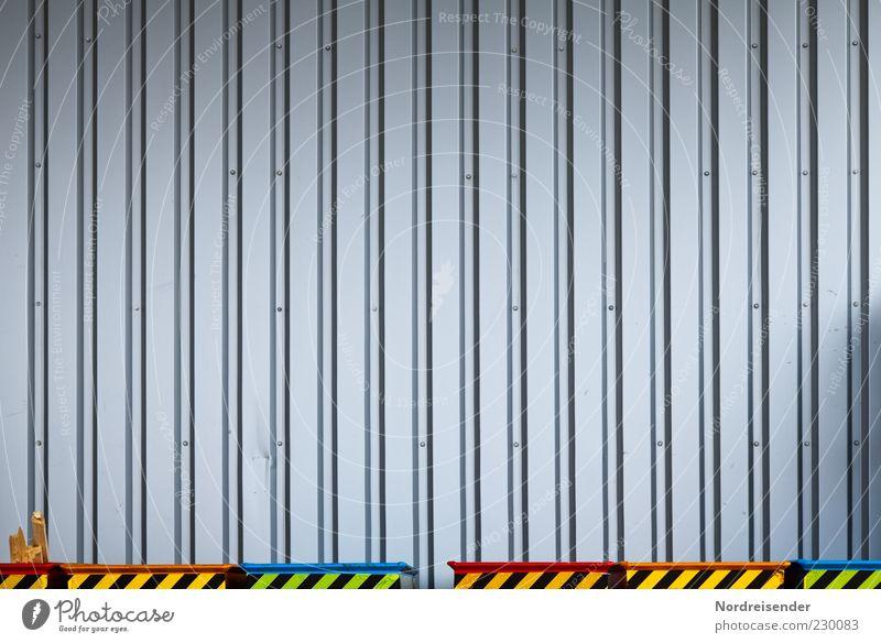 Große und kleine Blechschachteln Wand Architektur Mauer Gebäude Metall Linie Arbeit & Erwerbstätigkeit Hintergrundbild Fassade Schilder & Markierungen Ordnung
