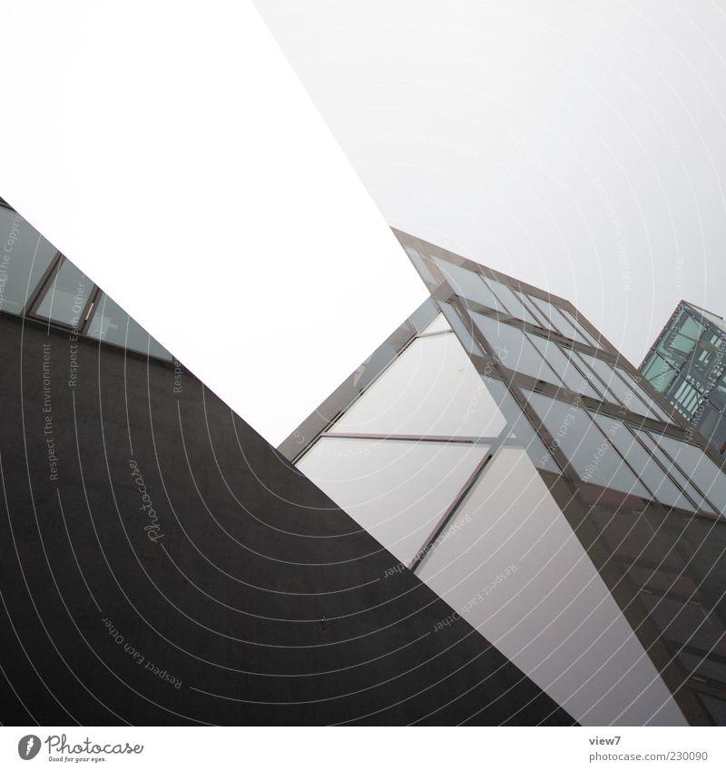 clash :: schwarz Haus dunkel Fenster Wand Architektur Gebäude Mauer Linie Glas Fassade Beton groß Design modern