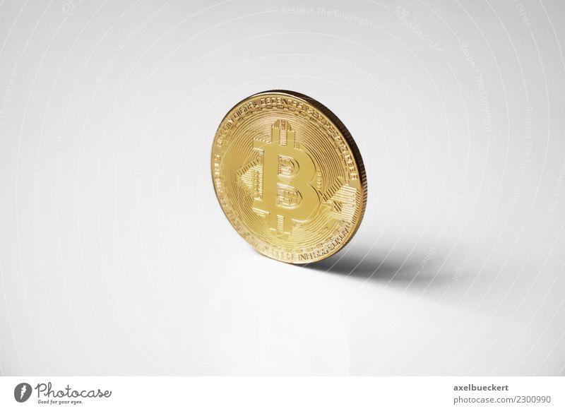 Bitcoin Münze Wirtschaft Kapitalwirtschaft Börse Business Informationstechnologie Internet Reichtum Kryptowährung Medienrummel Symbole & Metaphern Geld