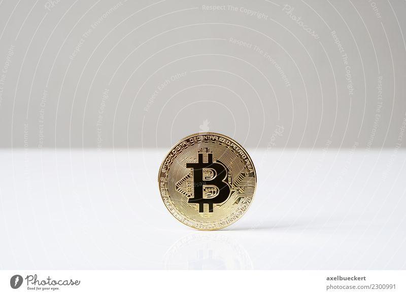 Bitcoin Münze Wirtschaft Handel Kapitalwirtschaft Börse Business Informationstechnologie Internet trendy Kryptowährung Medienrummel Hintergrundbild