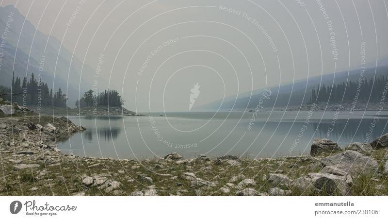 Banff National Park, Kanada Himmel Natur Wasser Einsamkeit Wald Umwelt Landschaft Nebel Reisefotografie Hügel Seeufer Amerika Sehenswürdigkeit stagnierend