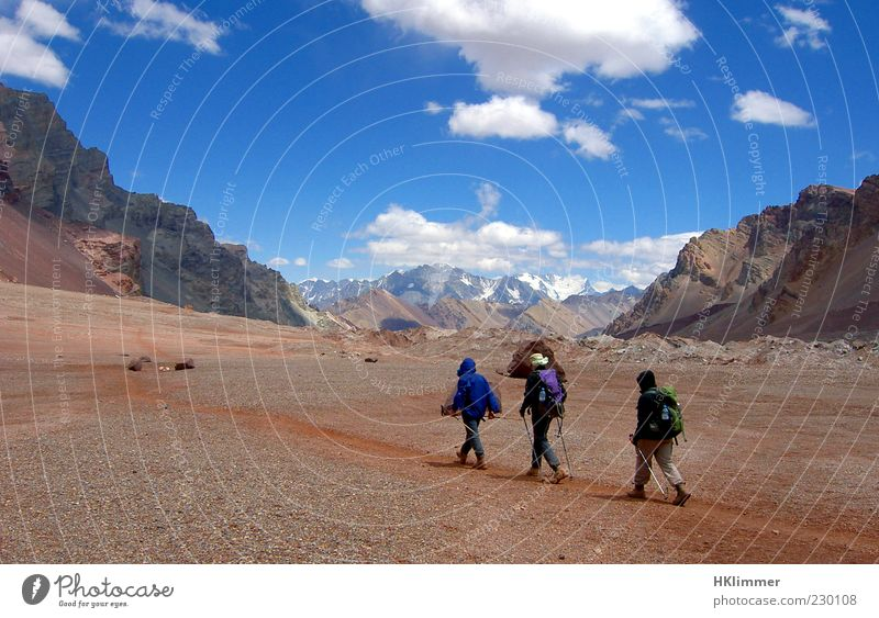 Aconcagua Trekking Natur Ferien & Urlaub & Reisen ruhig Ferne Erholung Umwelt Landschaft Berge u. Gebirge Wege & Pfade gehen Felsen wandern Gipfel Fußweg entdecken Erfahrung