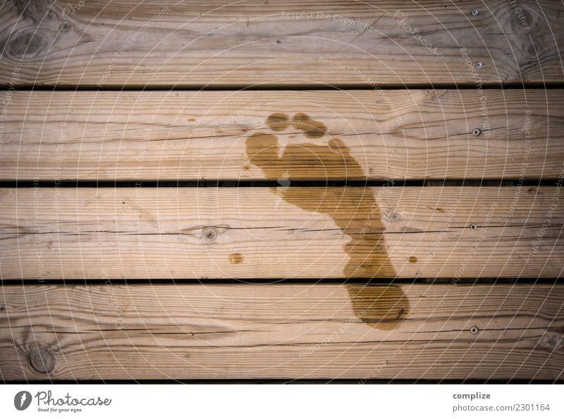 Sauna-Steg Gesundheit Wellness Leben harmonisch Wohlgefühl Erholung ruhig Spa Dampfbad Schwimmen & Baden Sommer Küste Seeufer Glück Barfuß Fußspur nackt