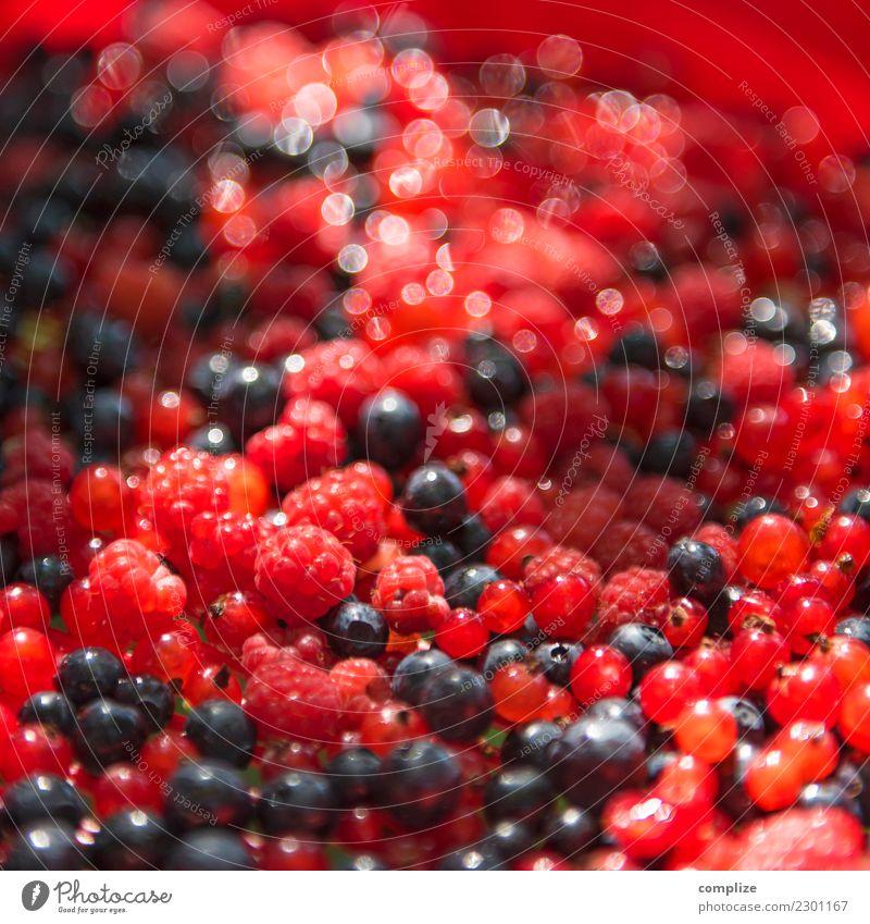 Waldbeeren Lebensmittel Frucht Kuchen Dessert Marmelade Ernährung Bioprodukte Vegetarische Ernährung Gesundheit Gesunde Ernährung frisch saftig Himbeeren