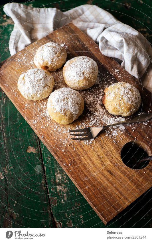 Krapfen Essen Lebensmittel Ernährung genießen süß lecker Süßwaren Bioprodukte Frühstück Backwaren Vegetarische Ernährung Teigwaren Gastfreundschaft