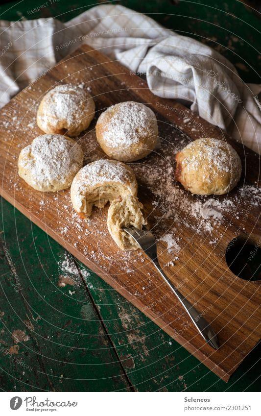selbstgemachte Pfannkuchen Lebensmittel Getreide Teigwaren Backwaren Kuchen Süßwaren Krapfen Ernährung Essen Kaffeetrinken genießen lecker süß backen