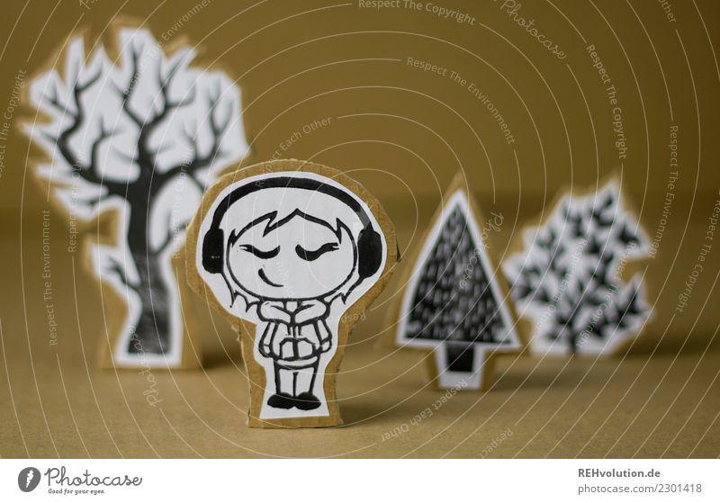 Pappland | Lauscherin Mensch Natur Jugendliche Junge Frau Landschaft Baum Erholung Freude Mädchen Lifestyle Umwelt Stil Kunst Glück außergewöhnlich braun