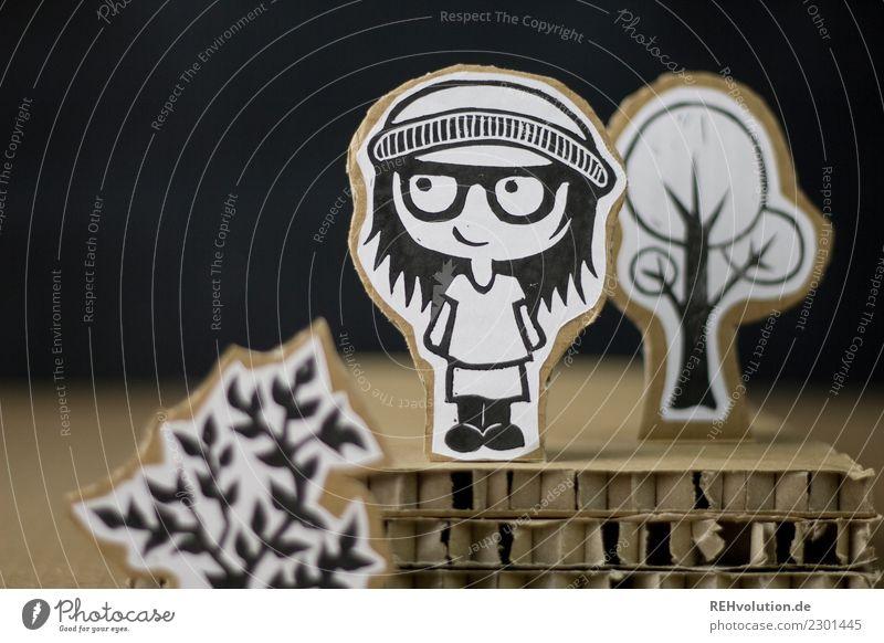 Pappland_Mädchen mit Mütze Lifestyle Freude Glück Freizeit & Hobby Mensch feminin Frau Erwachsene Jugendliche 1 Jugendkultur Umwelt Natur Landschaft Baum Rock