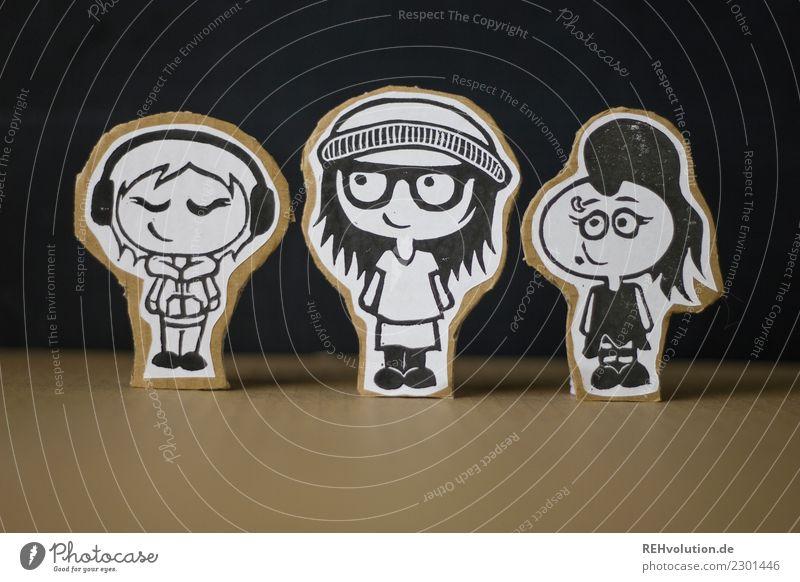 Pappland   3 Mädels Stil Mensch feminin Junge Frau Jugendliche Geschwister Jugendkultur Musik hören Piercing Brille Mütze Lächeln authentisch außergewöhnlich