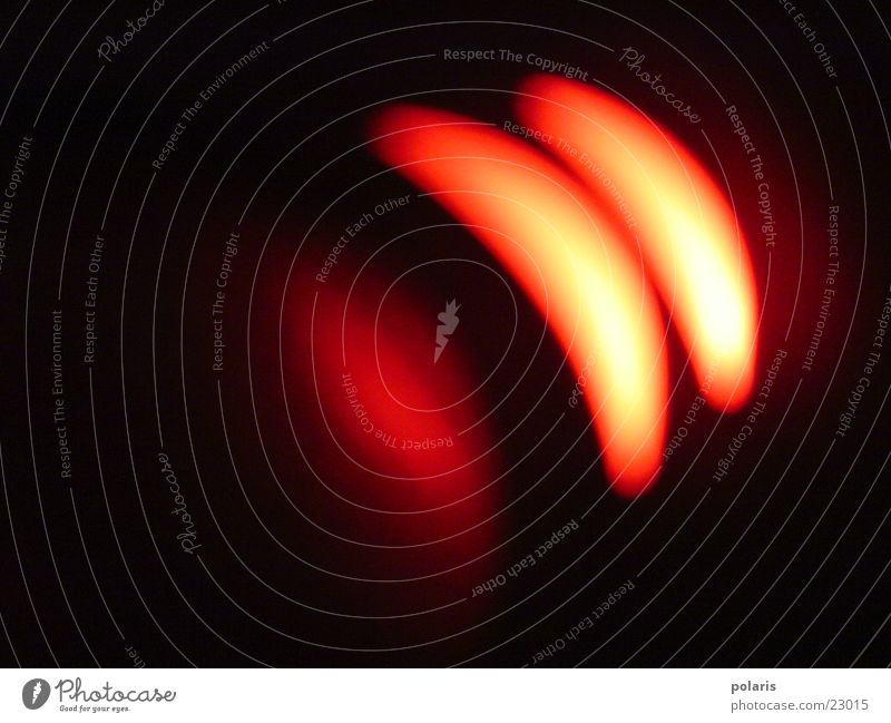 Lichtformen rot hell orange Fleck Bogen Fototechnik