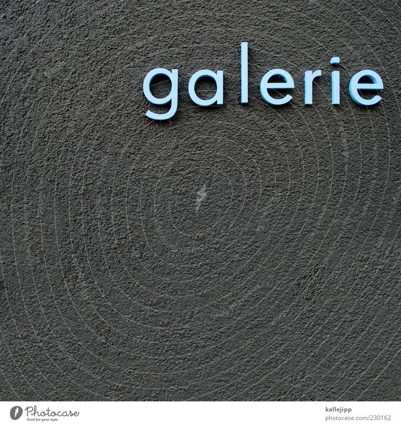futura Lifestyle Stil Design Schriftzeichen blau grau Ausstellung Kunst Museum dreidimensional Kultur Künstler Bauhaus Typographie Farbfoto Gedeckte Farben