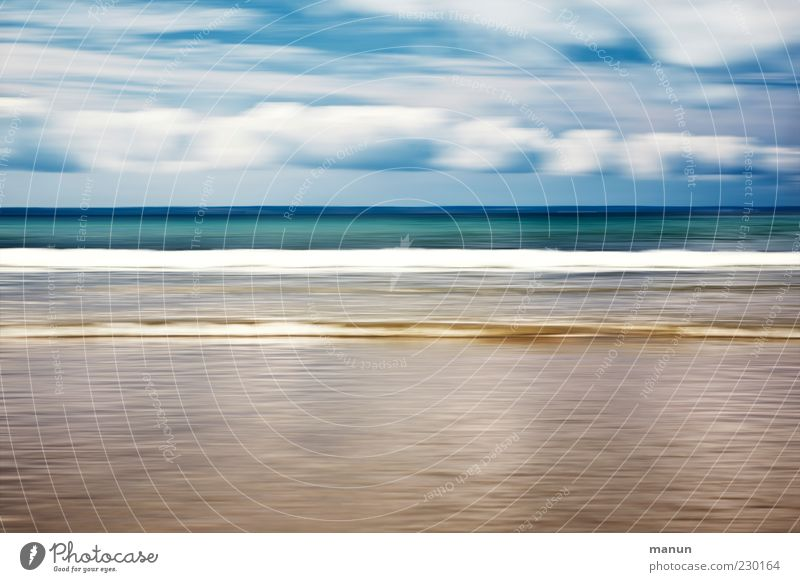 die Zeit verfliegt Himmel Natur Wasser schön Meer Sommer Strand Wolken Landschaft Sand Küste Wellen Horizont außergewöhnlich Urelemente fantastisch