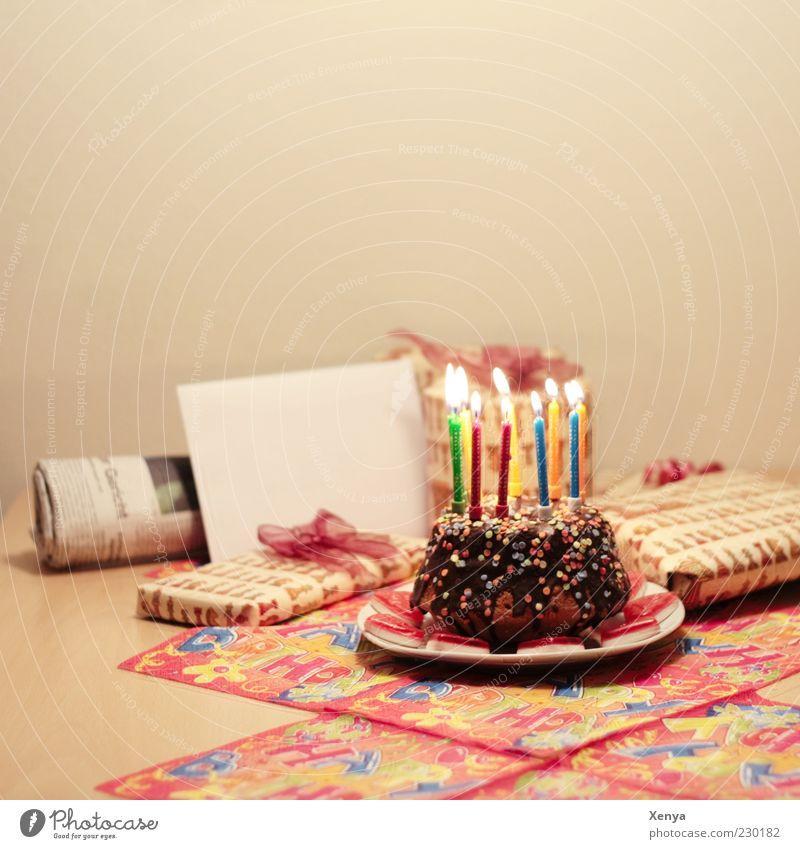 Happy Birthday Papa! Geburtstag Dekoration & Verzierung Kerze Feste & Feiern Geborgenheit Glück Familienfeier Geschenk Kuchen Tradition schenken