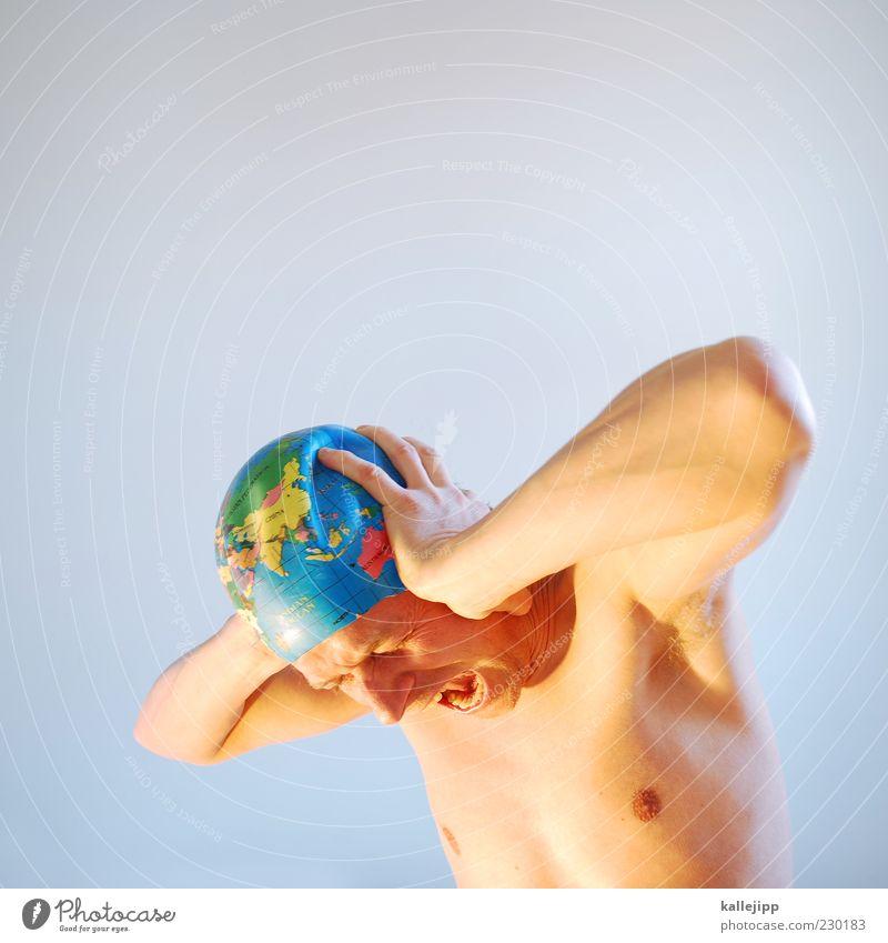 JAPAN Mensch Mann Erwachsene Gesicht Leben Kopf Erde Körper maskulin schreien Gesichtsausdruck Verzweiflung Desaster gestikulieren Umweltverschmutzung