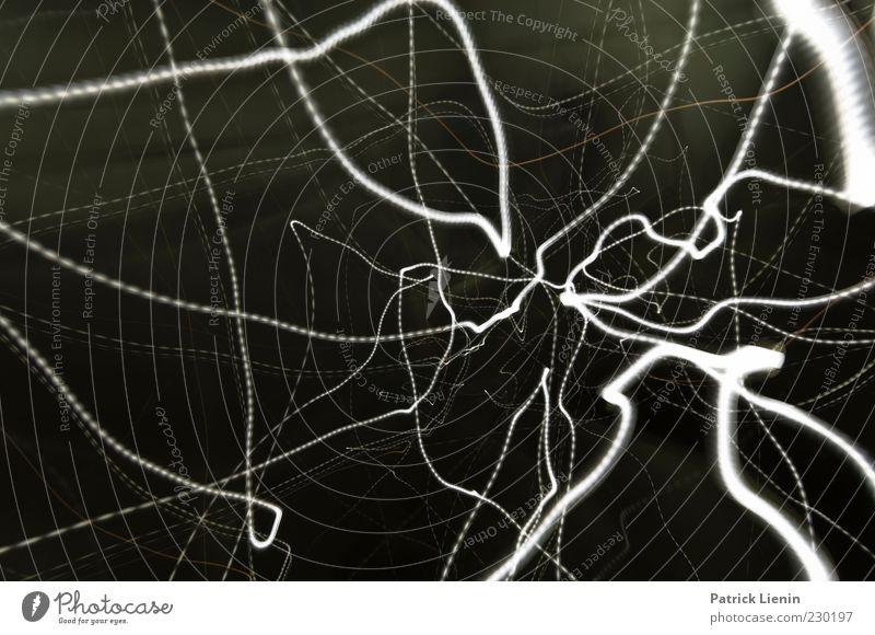 30 seconds Kunst außergewöhnlich hell verrückt wild schwarz Linie abstrakt elektrisch hektisch Nervosität wackeln blitzen Licht Lichtspiel Elektrizität Farbfoto