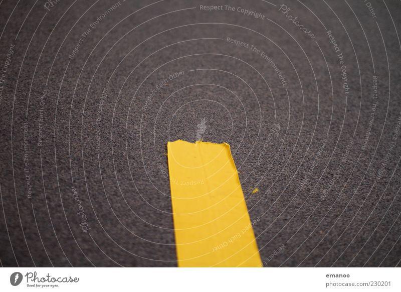 mittelstreifen Sportstätten Linie gelb Bewegung Turnen Mitte Mittelstreifen Bahn Teppich Klettverschluss Stoff Filz Boden Untergrund Matten Kunstturnen Farbfoto