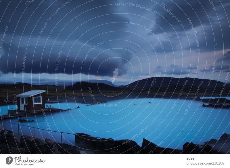 Blaue Lagune Natur blau Wasser Ferien & Urlaub & Reisen Wolken Berge u. Gebirge Europa Urelemente Wellness Bad Island genießen mystisch Wasserdampf Quelle Badeort