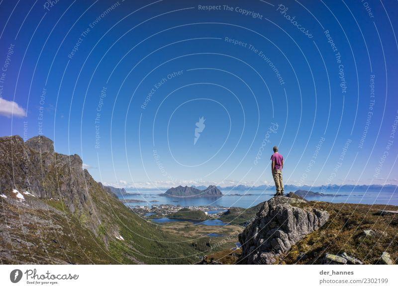 weitsicht Ferien & Urlaub & Reisen Tourismus Abenteuer Ferne Expedition Camping Sommer Sommerurlaub Schnee Berge u. Gebirge wandern Schönes Wetter Gipfel