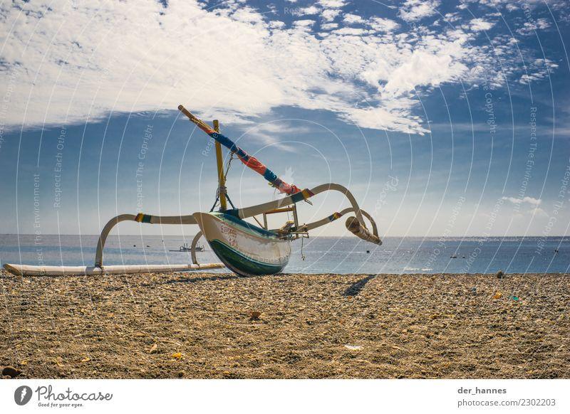 wagrecht auf der see Modellbau Ferien & Urlaub & Reisen Segeln Schifffahrt Segelboot Segelschiff dünn Bali Indonesien Fischer Fischerboot Strand Farbfoto