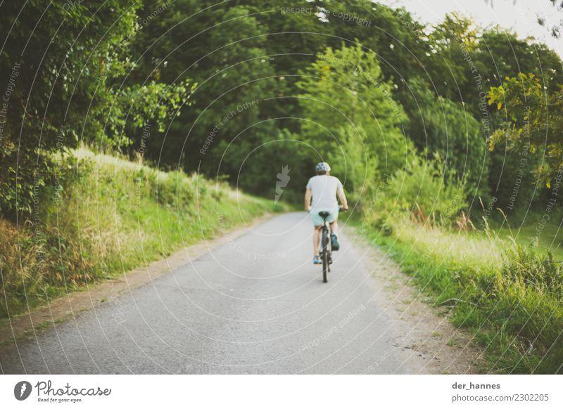 uphill Mensch Jugendliche Junger Mann Straße Leben Gesundheit Wege & Pfade natürlich Sport Freizeit & Hobby maskulin Fahrradfahren Fitness Fahrradtour sportlich
