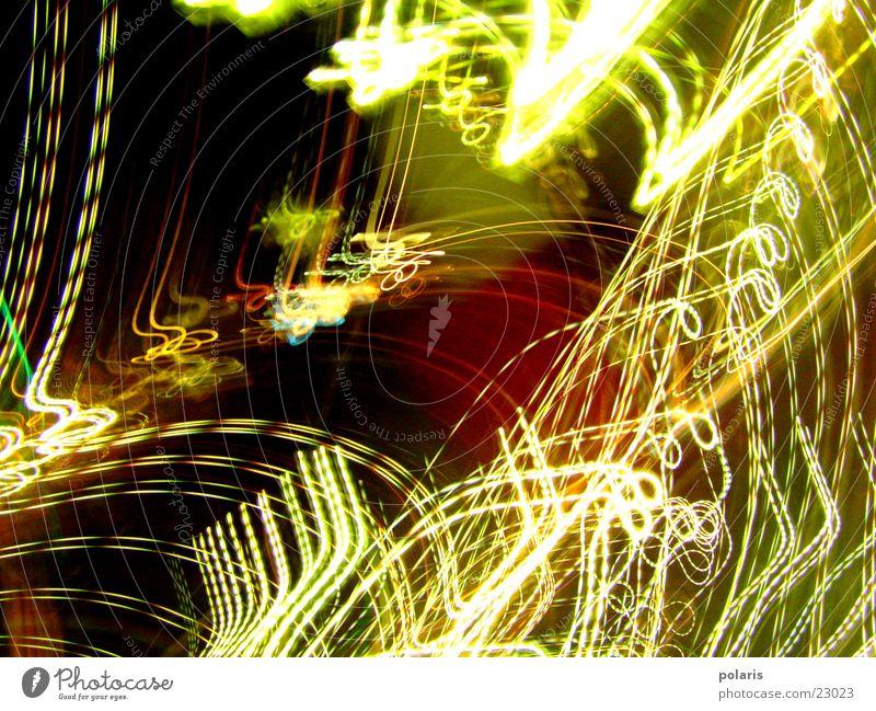 Lichterspiel Lichtspiel mehrfarbig grell abstrakt Fototechnik hell