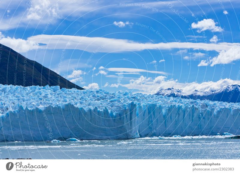 Blauer Gletscher, Patagonien, Argentinien, Südamerika schön Ferien & Urlaub & Reisen Tourismus Abenteuer Schnee Berge u. Gebirge Natur Landschaft Erde Wasser